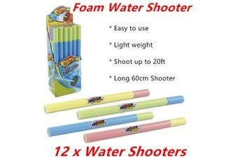 12 x Foam Water Shooter Gun Blaster Pistol Pump Summer Party Event Air Outdoor Toy