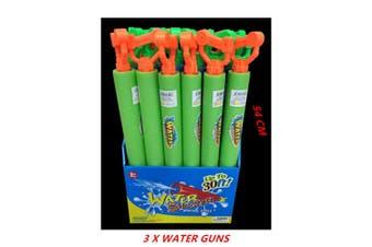 3 x Water Foam Shooter 54CM Gun w Handle Blaster Pistol Pool Pump High Power Kid