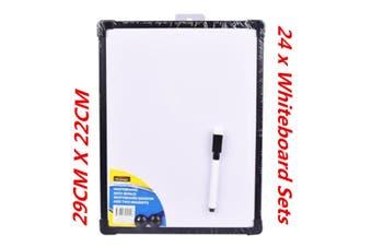24 x Magnetic Whiteboard Bonus Marker n Magnet Home Office 29x22CM Bonus Marker WMCV