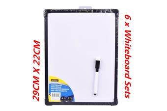 6 x Magnetic Whiteboard Bonus Marker n Magnet Home Office 29x22CM Bonus Marker WMCV