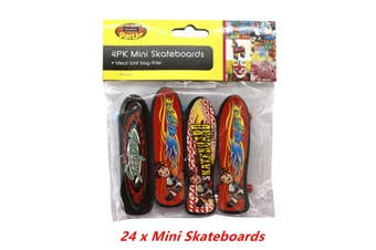 24 X MINI SMALL SKATEBOARDS TOYS GIFTS LOOT BAG BIRTHDAY PARTY GIFT KIDS
