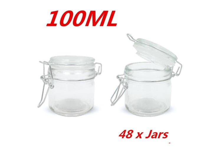 Gl Jars Clip Lid Bottle Jam Storage