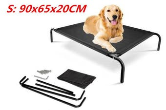 Bed Elevated Pet Dog Cot Outdoor Indoor Large Raised Frame Steel Camping 90cm FD