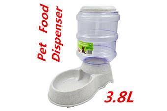 Automatic Plastic Pet Dog Cat FOOD Feeder Bowl Fountain Dispenser 3.8L DUR
