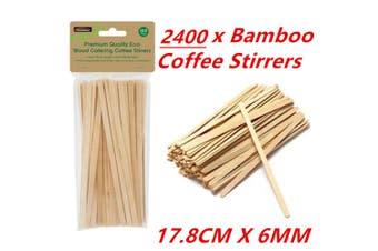 2400 Wooden Coffee Tea Stirrers Stirrer Waxing Craft Paddle Pop Sticks Cafe Shop