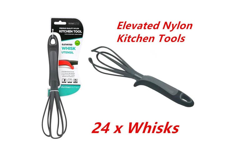 Elevated Nylon Black Whisk Heat Resistant Food Kitchen Utensil Cooking Tools