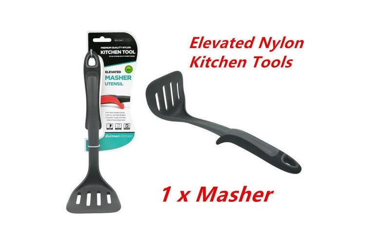 1 x Elevated Nylon Black Masher Potato Egg Masher Ricer Vegetable Fruit Crusher Tool