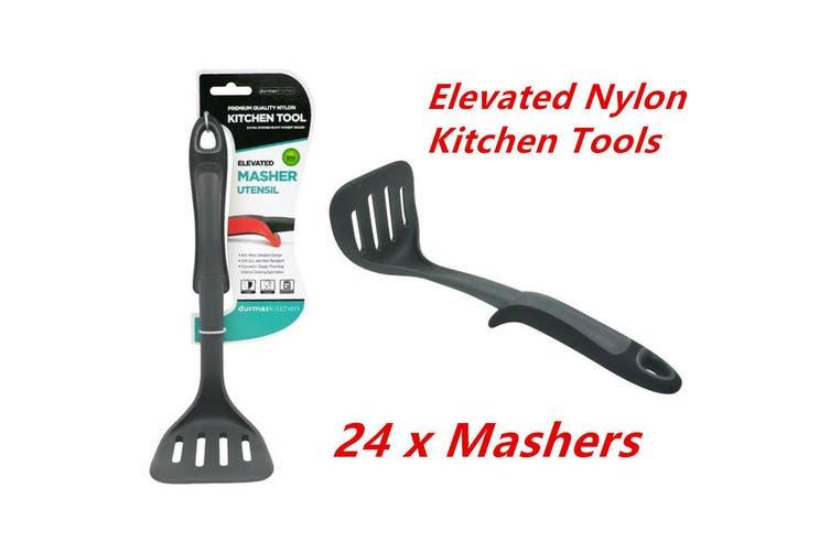 24 x Elevated Nylon Black Masher Potato Egg Masher Ricer Vegetable Fruit Crusher Tool