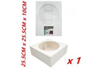 "1 x 10"" CAKE BOXES Window Face Cardboard White Cake Cupcake Box Birthday Party Bulk"