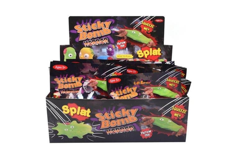 24 x Splat Zombie Balls Face Splatter Stress Relief Halloween Toy Horror Zombies