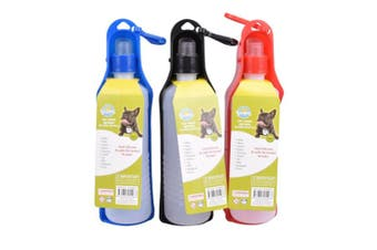 3 x 500ML Portable Pet Dog Travel Drinking Water Bowl Bottles Feeder Puppy