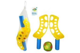 Outdoor Garden Beach Flip Toss Throw Catch Scoops Ball Game Toy Set Party Family