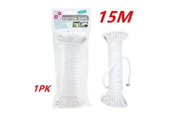 1 x 15M Travel Camping Clothes Line Rope Hanging Clothesline Rope Airer Garden