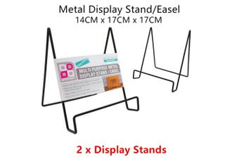 2 x Metal Display Stand Easel Rack Paper Document Photo Picture Plate Holder Office