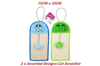 2 x Cat Wall Hanging Scratcher Scratching Mat Pad Board Pet Kitten Post