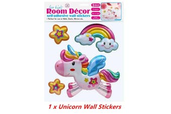 Self Adhesive Wall Stickers Room Decor Unicorn Series Decal Bedroom Decoration