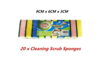20 x Cleaning Scrub Sponge Kitchen Cook Dish Washer Durable Pot Restaurant Commercial