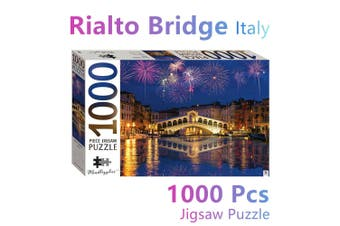 Italy Rialto Bridge Jigsaw Puzzles 1000 Pieces Set Adult Kids Toys Activity Game