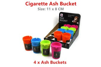 4 x Cigarette Holder Butt Ash Bucket Ashtray Container Tobacco Smoking Tray Bin