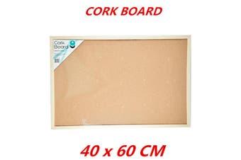 Cork Board 40x60cm Pins Corkboard Pinboard Notice Large Memo Photos Wooden Frame Wall