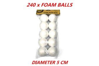 Diameter 5cm Small White Polystyrene Styrofoam Foam Ball Craft Millinery DIY
