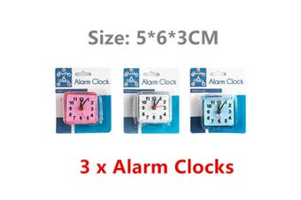 3 x Alarm Clock Time Office Kids School Study Battery Powered Bed Table Desk