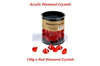 140g Red Coloured Acrylic Diamond Crystal Gem Ice Faux Rhinestone Fillers Decor