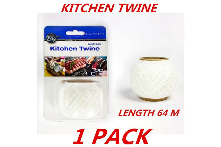 1 x Cotton Kitchen String Twine Butcher's Twine Food Grade Polyester Cooking 64m