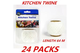24 x Cotton Kitchen String Twine Butcher's Twine Food Grade Polyester Cooking 64m