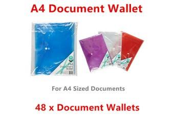 48x A4 Document Wallet Paper Organiser Storage Bind Case Portfolio Folder Pocket