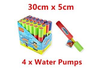 4 x Short Water Gun 30CM Pump Blaster Shooter Summer Event Pool Party Game Beach WM