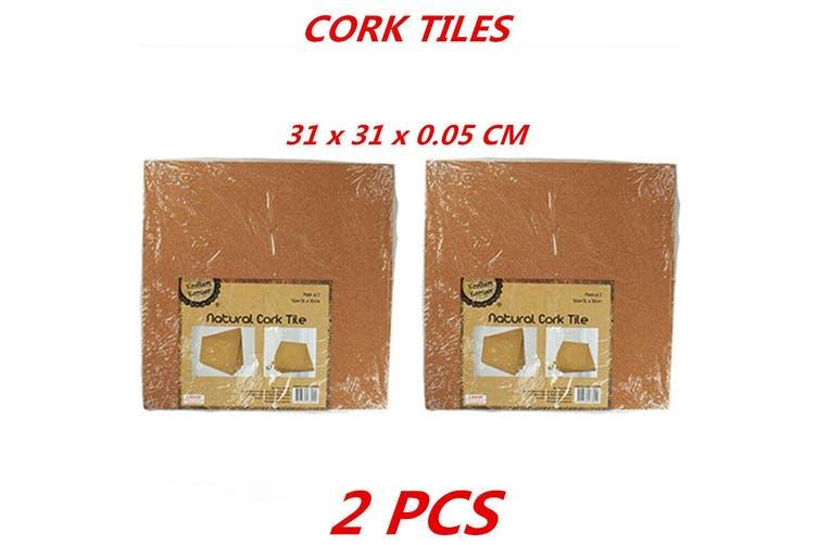 2 x Cork Tile School Projects Pin Board Craft Projects Display Pin Board 31x31cm