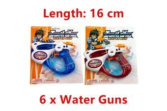6 x Water Gun Pistol Handgun Canon Blaster Shooter Summer Beach Pool Toy Outdoor