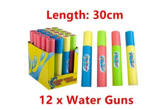 12 x Water Pump Gun 30cm Shooter Blaster Cannon Summer Pool Beach Event Party Game