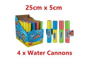 4 x Water Pump Cannon 25cm Gun Shooter Blaster Pistol Summer Game Party Pool Beach W