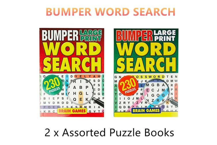 2 x Bumper Word Search Puzzle Words Find Challenge Learning Activity Game Book