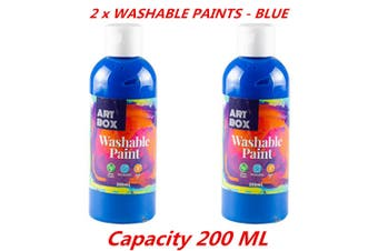 2 x Acrylic Blue Color Artist Washable Paint Art Craft Radical Water Based 200ml