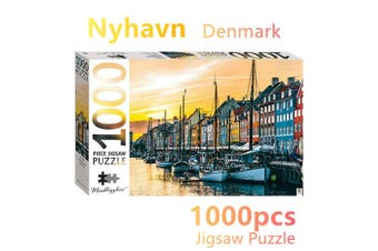 Denmark Nyhavn Jigsaw Puzzles 1000 Pieces Set Adult Kids Toys Activity Games