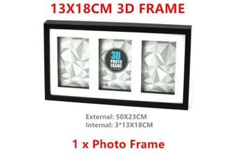 3D Photo Frame Home Decor Display Paint College Picture Black n White 13x18cm