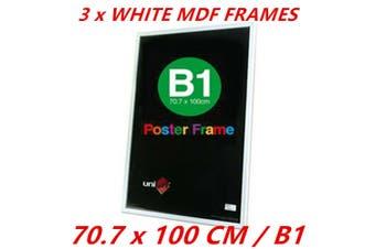 3 x B1 MDF Poster Frame White Color Home Decor Artwork Prints Sign Gift Ware