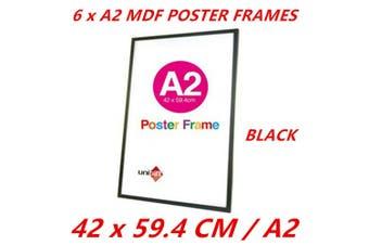 6 x Black A2 MDF Poster Frame Various Colors Home Decor Artwork Prints Sign Gift Ware