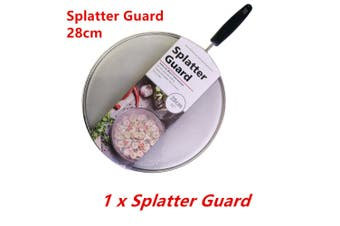 1 x Anti Splatter Guard 28cm Oil Net Splash Cover Pan Screen Kitchen Cooking Frying