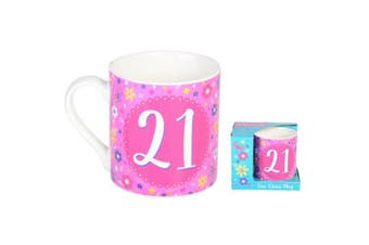 Ceramic 21st Birthday Collection Bloom Mug Gift Mugs Drinking Tea Cup Tumbler
