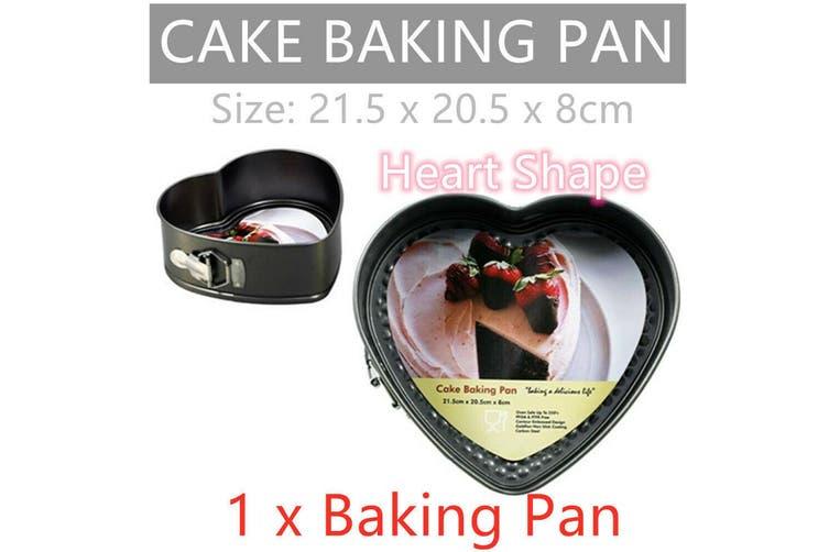 Heart Shape Cake Baking Pan Mold Mould Tin Bake Tray Heart-Shaped Bakeware Oven