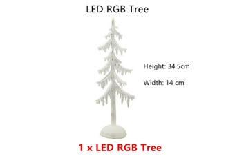 LED Clear Glitter Tree Plastic Decor AAA Battery Light Home Christmas Birthday