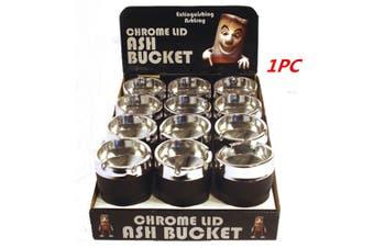 1 x Chrome Lid Ashtray Bucket Auto Car Cigarette Butt Cup Ashtray Smoke Ash Holder