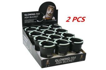 2 x Ashtray Butt Bucket Cigarette Tobacco Holder Ash Container Storage Open top