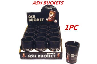 1 x Black Ashtray Bucket Auto Vehicle Car Cigarette Butt Cup Ashtray Smoke Holder