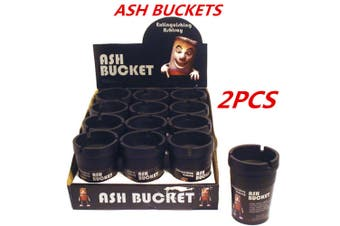 2 x Black Ashtray Bucket Auto Vehicle Car Cigarette Butt Cup Ashtray Smoke Holder