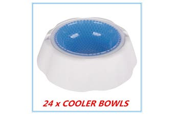 24 x Pet Cooling Bowl Freezable Chilled Cold Water Bowl Summer Chilled Frozen Dog Cat
